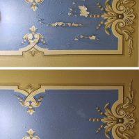 Detalle: antes y después de la restauración